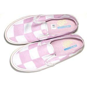 Pink & White Checkered Slip-On Vans
